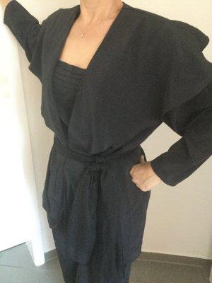 Abend Anzug Schwarz Größe 38 weicher Stoff