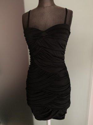 Abend Kleid Cocktail gereift Gr 36 38 S von H&M, schwarz