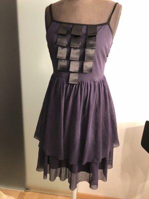 Abend Kleid Netz/Chiffon Gr 38 40 S/M von Piu&Piu lila
