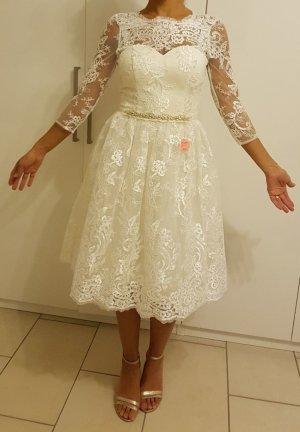 Chi Chi London Evening Dress white-cream