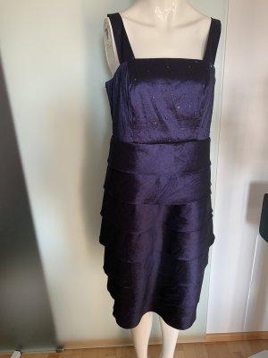Abend Kleid Träger Gr 42 XL von MIM Satin Optik