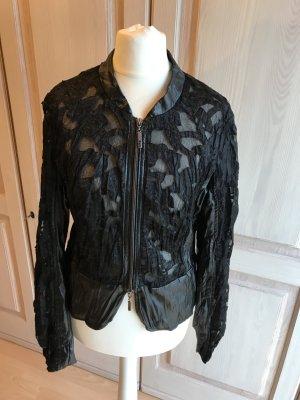 Abendjacke Blazer Jacke aus Spitze zum Abendkleid Abendgarderobe schwarz Biba Jäckchen Elegant