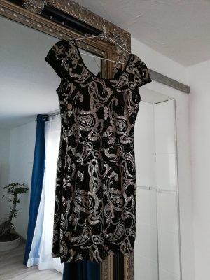 Robe de soirée noir-bronze
