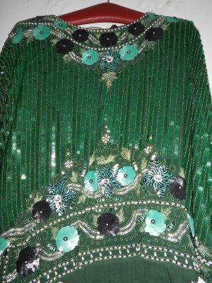 Vestido de noche verde bosque