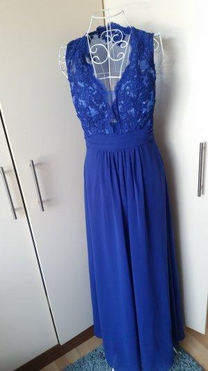 Abendkleid 36 blau Spitze