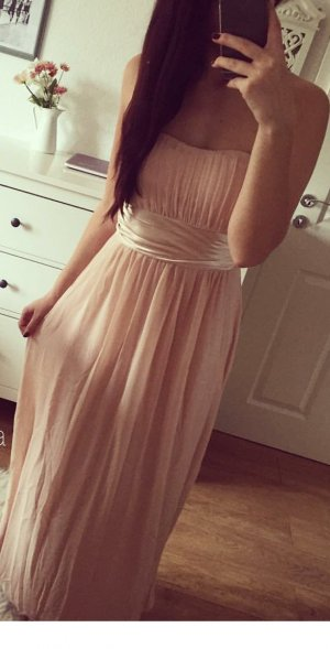 Abendkleid 36 Rose Nude