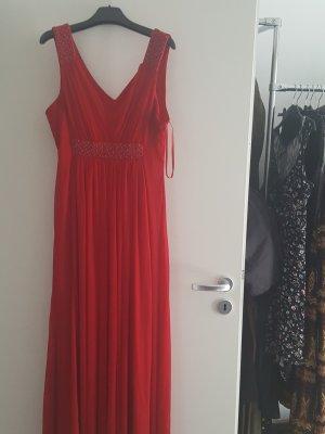 Ashley Brooke Vestido de noche rojo
