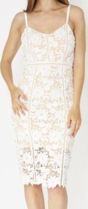 Abendkleid 40 Nude soft weiß
