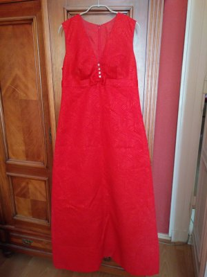 Evening Dress neon red synthetic fibre