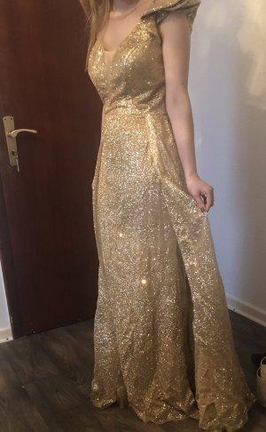Robe de soirée doré