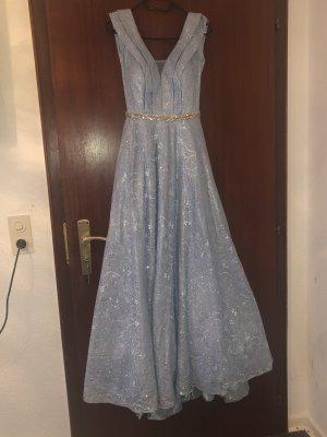 Robe de soirée bleu azur