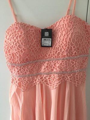 Vestido de baile rosa neón
