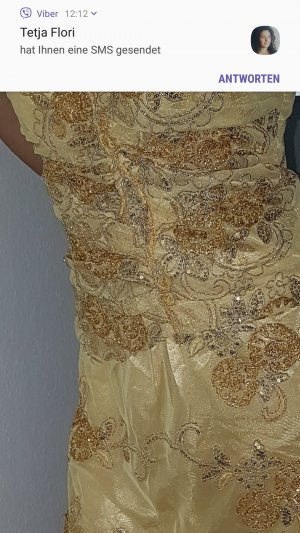 & other stories Vestido color oro