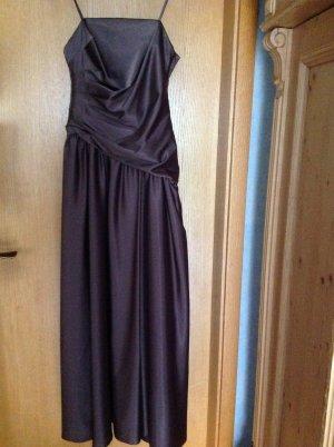 Abendkleid, Abiball, langes Kleid, braun, glänzend, Gr. 36