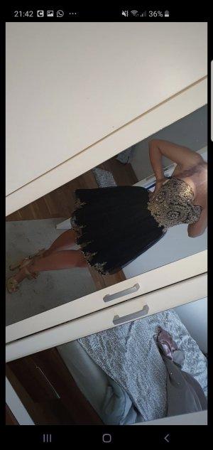 Robe de bal noir-doré
