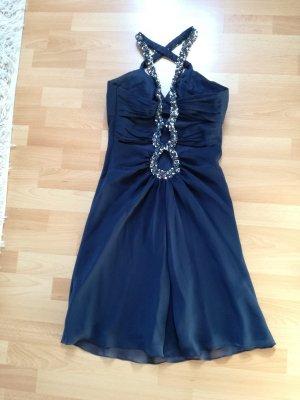Abendkleid Abiballkleid Kleid Niente Gr.38 marineblau