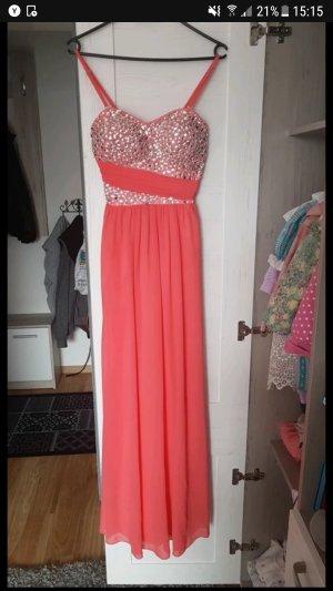 Abendkleid Abiballkleid lachsfarben