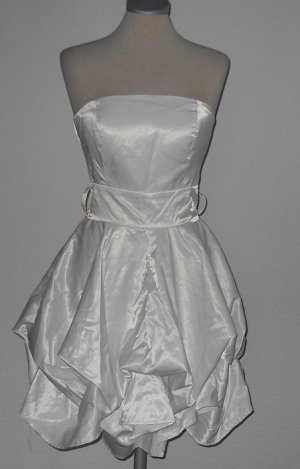 AX Paris Vestido bandeau blanco