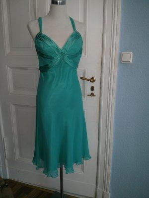 Abendkleid Abiballkleid türkis Satin Seide Bandage Dress