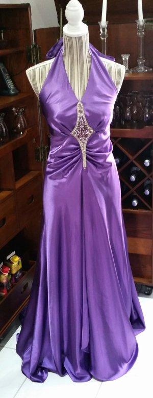 Abendkleid Abiye langes Kleid lila 36 S