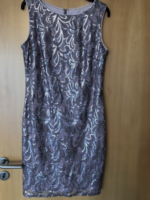 Mariposa Robe à paillettes beige