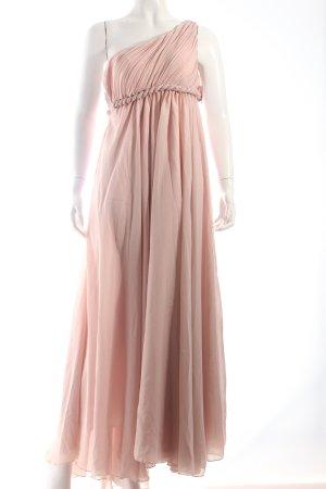 Vestido de noche rosa empolvado