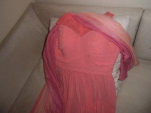 Vestido de baile albaricoque tejido mezclado