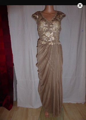 Abendkleid Ashley Brooke , Braun-Gold Gr. 44, neu und ungetragen