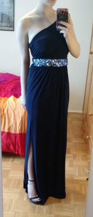 Abendkleid Asos Gr. 36 S 38 Kleid Robe dunkelblau blau festlich Ball Maxikleid