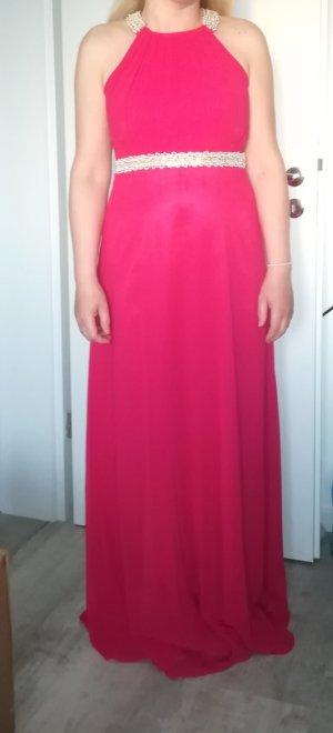 Abendkleid aus  Georgette und Polyester Stoff in Rot-punk Farbe