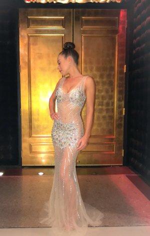 Vestido de noche nude