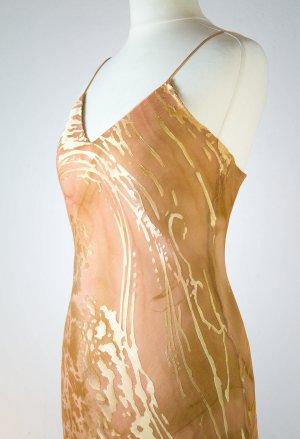 Abendkleid, Ball-Sommerkleid von Lulu H. Paris, goldfarbend, in Grösse 36