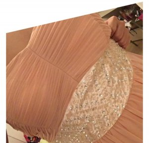 100% Fashion Avondjurk roségoud