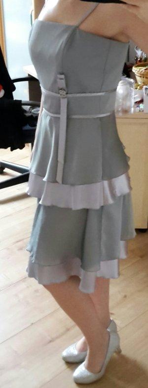 Abendkleid Ballkleid Abiball Hochzeit - silber