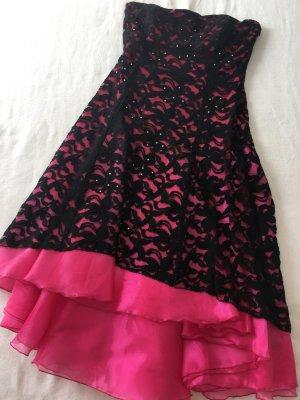 Abito da ballo rosa-nero
