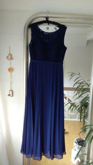 Abendkleid, Ballkleid blau mit Spitze von Juju & Christine 40-42