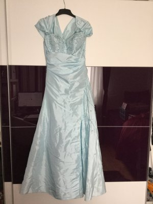 Abendkleid Ballkleid hellblau, Größe 36