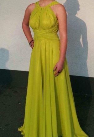 Abendkleid/ Ballkleid in gelbgrün