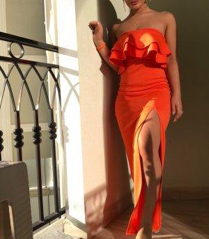 Abendkleid Ballkleid in orange  Gr 36-38