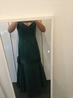 Abendkleid, Ballkleid mit Schleife dunkelgrün Gr. 40 Size 12 evtl. kleine 42