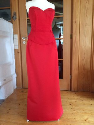 Symo Corsage Dress bright red-red