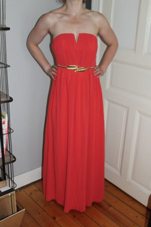 Abendkleid Ballkleid Trägerlos blogger hipster mit Gürtel