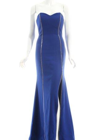 Abendkleid blau-goldfarben Eleganz-Look