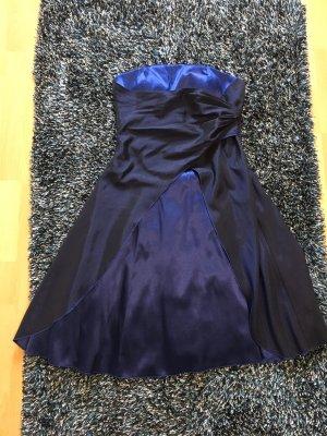 Abendkleid blau mit Schnürung