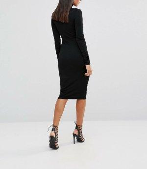 Abendkleid / Bleistiftkleid / Businesskleid in schwarzem mit Ausschnitt