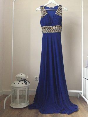 Robe de soirée bleu-doré
