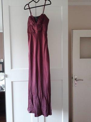 Abendkleid Bordeaux mit Pailletten, Gr. 34