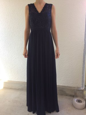 Abendkleid Brautjungfer Blau 34