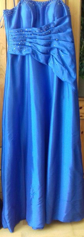 Abendkleid Brautkleid blau Kleemeier Gr 44