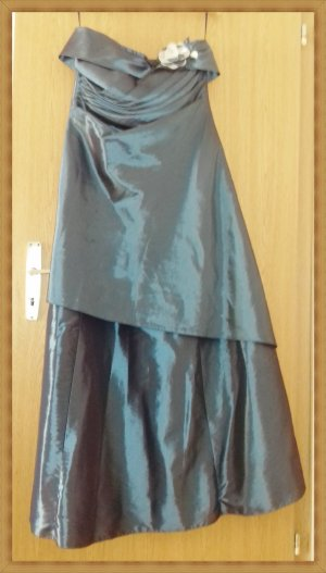 Robe de mariée bleu pétrole polyester